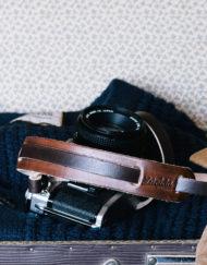 Correa cuero cámara Lúcida Canon ae1 retro con protector hombro varios colores